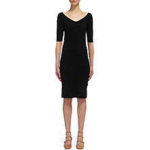 Buy Whistles Bardot Knit Dress, Black Online at johnlewis.com