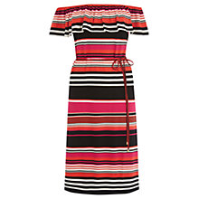 Buy Oasis Cuba Stripe Bardot Dress, Multi Online at johnlewis.com