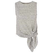 Buy Whistles Linen Tie Vest, Grey Online at johnlewis.com