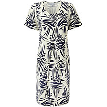 Buy Pure Collection Talia Cocoon Dress, Navy Bamboo Print Online at johnlewis.com