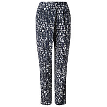 Buy Phase Eight Denver Print Trousers, Navy/Ivory Online at johnlewis.com