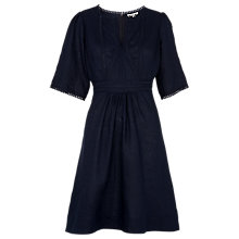 Buy Whistles Loma Embroidered Dress, Navy Online at johnlewis.com