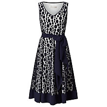 Buy Jacques Vert Circles Colour Block Dress, Navy Online at johnlewis.com