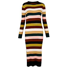 Buy Whistles Stripe Rib Knit Dress, Multi Online at johnlewis.com