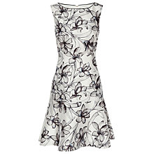 Buy Reiss Onyx Peplum Hem Dress, Off White/Blue Online at johnlewis.com