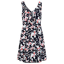 Buy Sugarhill Boutique Poppy Floral Bow Dress, Navy/Pink Online at johnlewis.com