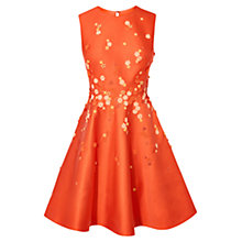 Buy Karen Millen Scattered Embroided Dress, Orange Online at johnlewis.com