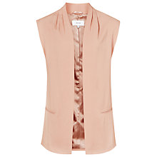 Buy Reiss Gita Open Front Gilet, Salmon Online at johnlewis.com