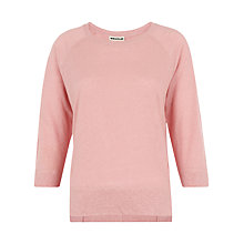 Buy Whistles Alice 3/4 Sleeve Linen T-Shirt Online at johnlewis.com