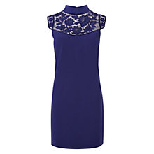 Buy Karen Millen Cutwork Detail Dress, Purple Online at johnlewis.com