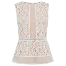 Buy Oasis Lace Peplum Top Online at johnlewis.com