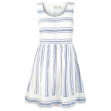 Buy Fat Face Sophie Stripe Dress, White Online at johnlewis.com