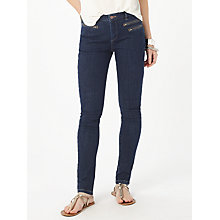 Buy Phase Eight Victoria Triple Zip Jeans, Washed Indigo Online at johnlewis.com