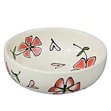 Buy Gallery Thea Personalised Pansyand Heart Cereal Bowl Online at johnlewis.com