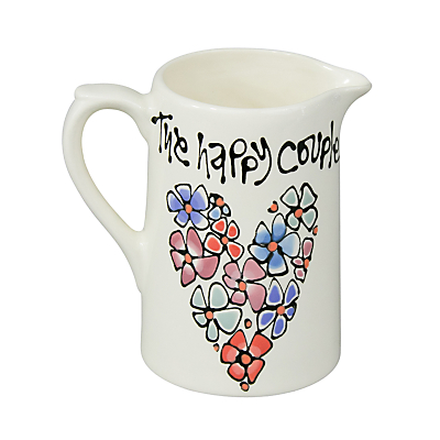 Image of Gallery Thea Personalised Pansy Border Farmhouse Jug