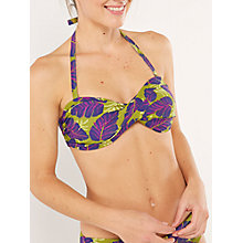 Buy White Stuff Desert Twist Bikini Top, Pickle Green Online at johnlewis.com