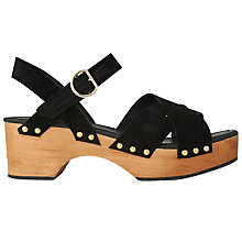 Buy Whistles Handon Clog Sandals, Black Online at johnlewis.com