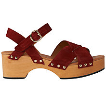 Buy Whistles Handon Clog Sandals, Dark Red Online at johnlewis.com
