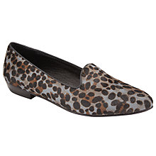 Buy Collection WEEKEND by John Lewis Galo Loafers, Grey Leopard Online at johnlewis.com