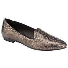Buy Collection WEEKEND by John Lewis Gema Loafers, Pewter Metallic Online at johnlewis.com