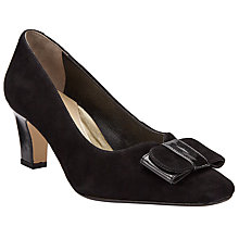 Buy John Lewis Made in England Alston Wide Bow Court Shoes, Black Online at johnlewis.com