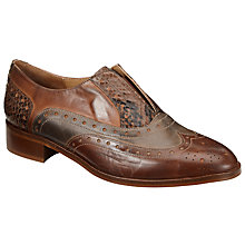 Buy Collection WEEKEND by John Lewis Floria Slip On Brogues, Brown/Multi Online at johnlewis.com