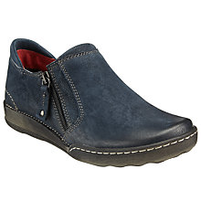 Buy John Lewis Designed for Comfort Yona Zip Shoe Boots, Navy Online at johnlewis.com