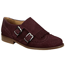 Buy Collection WEEKEND by John Lewis Grata Monk Shoes, Burgundy Online at johnlewis.com