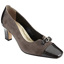 Buy John Lewis Askern Wide Buckle Court Shoes, Grey Online at johnlewis.com