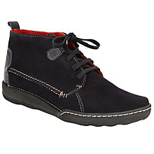 Buy John Lewis Yule Lace Up Ankle Boots, Navy Online at johnlewis.com