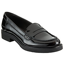 Buy John Lewis Galia Saddle Loafers, Black Online at johnlewis.com
