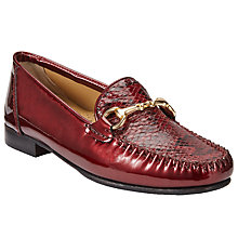 Buy John Lewis Made in England Goole Trim Flat Moccasins, Red Online at johnlewis.com