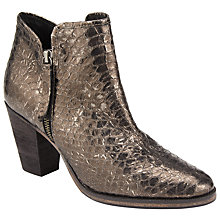 Buy Collection WEEKEND by John Lewis Paca Block Heeled Ankle Boots, Gold Online at johnlewis.com