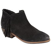 Buy Collection WEEKEND by John Lewis Paola Fringed Ankle Boots, Black Online at johnlewis.com