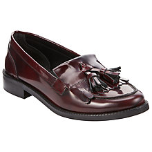 Buy John Lewis Gail Loafers, Burgundy Online at johnlewis.com