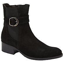 Buy John Lewis Pearle Buckle Ankle Boots, Black Online at johnlewis.com