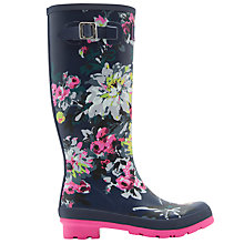 Buy Joules Floral Print Wellington Boots, Navy Online at johnlewis.com