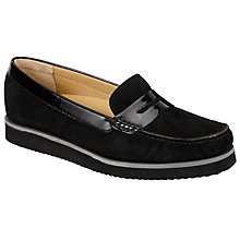 Buy John Lewis Made in England Grays Flatform Loafers, Black Online at johnlewis.com