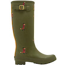 Buy Joules Fox Print Wellington Boots, Green Online at johnlewis.com