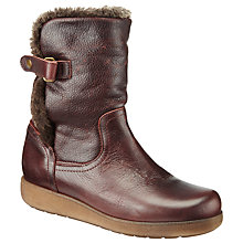 Buy John Lewis Rosa Calf Boots, Burgundy Online at johnlewis.com