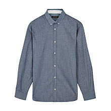 Buy Jaeger Chambray Flower Print Shirt, Blue Online at johnlewis.com