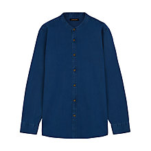 Buy Jaeger Grandad Collar Shirt, Indigo Online at johnlewis.com