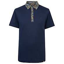 Buy Pretty Green Stretford Paisley Polo Shirt, Navy Online at johnlewis.com