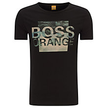 Buy BOSS Orange Terko T-Shirt, Black Online at johnlewis.com