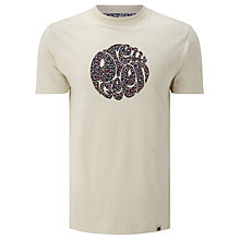 Buy Pretty Green Stretford Circle Logo T-Shirt, Stone Online at johnlewis.com