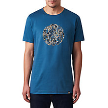 Buy Pretty Green Pailsey T-Shirt, Blue Online at johnlewis.com