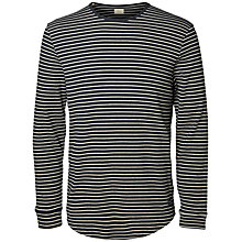 Buy Selected Homme Mattis Yarn Dye Stripe Long Sleeve T-Shirt, Blueberry Online at johnlewis.com