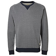 Buy Selected Homme Markus Cotton Sweatshirt, Blueberry Online at johnlewis.com