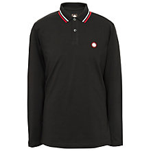 Buy Pretty Green Long Sleeve Polo Shirt, Black Online at johnlewis.com