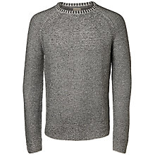 Buy Selected Homme Mel Crew Neck Jumper, Light Grey Online at johnlewis.com